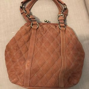 Hype Handbag Leather Quilted Brown